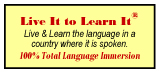foreign language immersion - Live It to Learn It