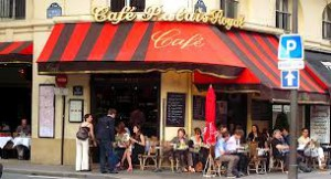 foreign language study abroad - people watching a learning experience - cafe france