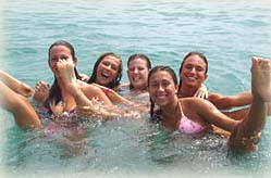 foreign language immersion - teens swimming - Costa del Sol