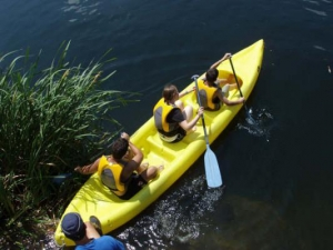high school study abroad - Kayaking - active language learning