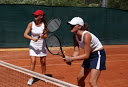 playing tennis - learning a language while sharing mutual interests