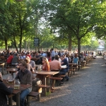 Biergartens in Germany.