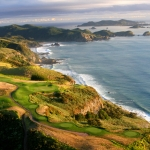 Playing golf in New Zealand
